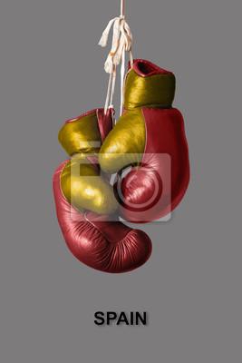 Boxhandschuhe in der Farbe von Spanien