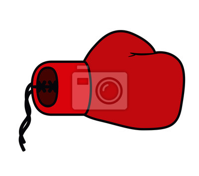 Boxhandschuhe isoliert Symbol Design, Vektor-Illustration Grafik