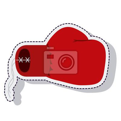 Boxhandschuhe isoliert Symbol Vektor-Illustration-Design