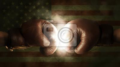 Boxhandschuhe mit der Flagge der USA