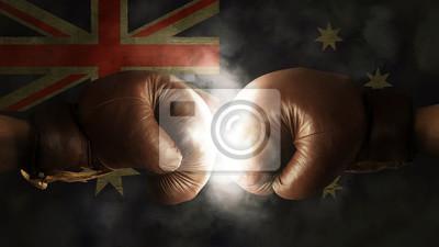Boxhandschuhe mit der Flagge von Australien