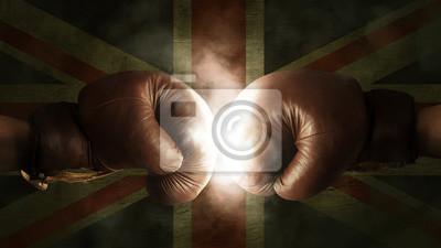 Boxhandschuhe mit der Flagge von Großbritannien