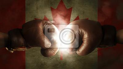Boxhandschuhe mit der Flagge von Kanada