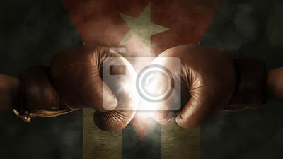 Boxhandschuhe mit der Flagge von Kuba