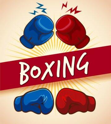 Bild Boxhandschuhe und Banner