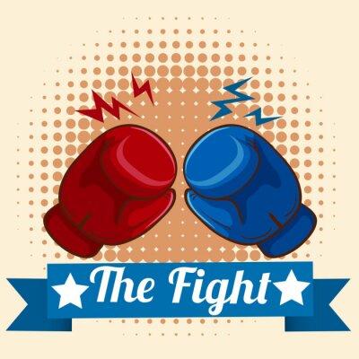 Bild Boxhandschuhe und Figthing Zeichen