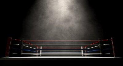 Bild Boxring Spotlit Dunkel