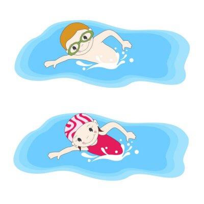 Bild Boy und Schwimmen im Pool