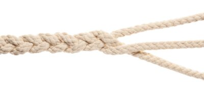 Bild Braided rope on white background