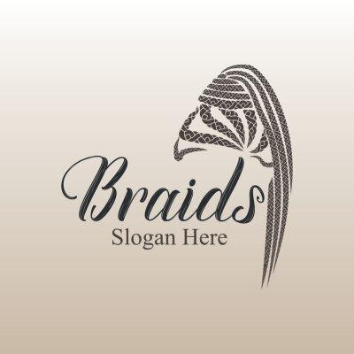 Bild Braids hair style logo design for girls