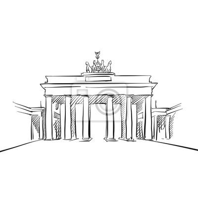 Brandenburger Tor In Berlin Leinwandbilder Bilder Tour Tourismus Historisches Gebaude Brandenburg Myloview De