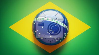 Brasilianische Flaggen-Fußball