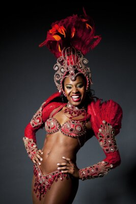 Bild Brasilianischen Samba-Tänzer
