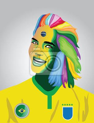 Brasilien Fußball-Fan