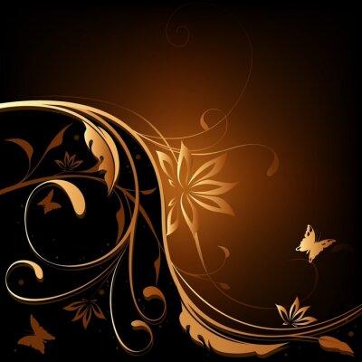 Bild Braun-orange Floral background