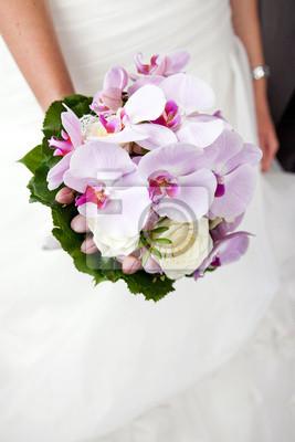 Brautstrauss Aus Orchideen Leinwandbilder Bilder Treue