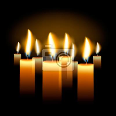 Brennende Kerzen Urlaub Hintergrund, Vektor-Illustration eps10.