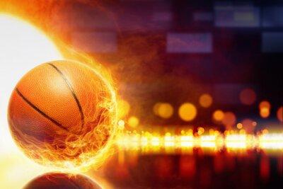 Bild Brennender Basketball