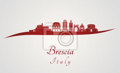 Bild Brescia Skyline in rot