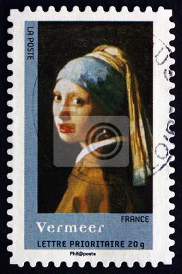 Briefmarke France 2008 Mädchen Mit Dem Perlenohrring Durch Vermeer