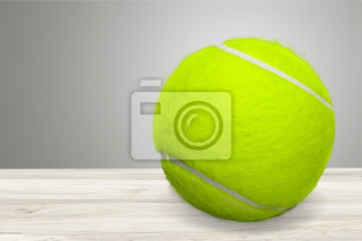 Bright yellow Tennis Ball isolated on white