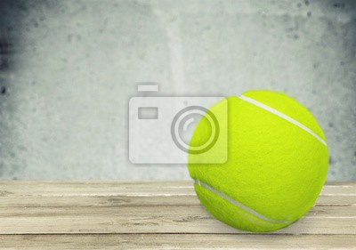 Bright yellow Tennis Ball isolated on white background. Closeup