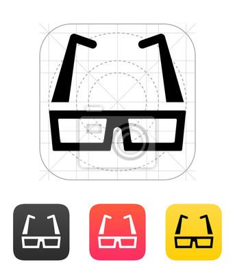 Brillen-Symbol. Vektor-Illustration.