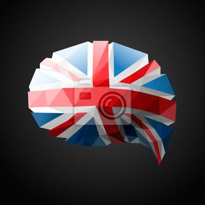 Britische Sprechblase Hintergrund, Vektor-Illustration eps10.