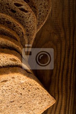 Brot aus Roggen-und Weizenmehl einer Grobschliff