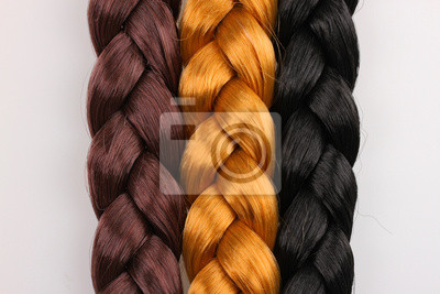 Bild Brown,blonde and black hair braid