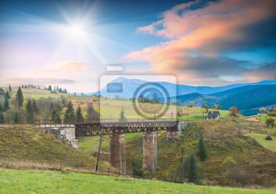 Brücke durch den Fluss