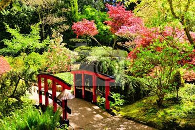 Lieblings Brücke durch schöne japanische gärten, butchart gardens, victoria &IJ_73