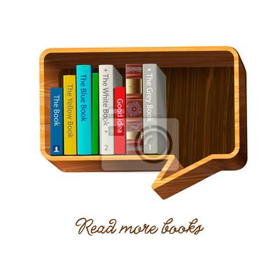 Bücherregal Form Sprechblase, Vektor-Illustration eps10.
