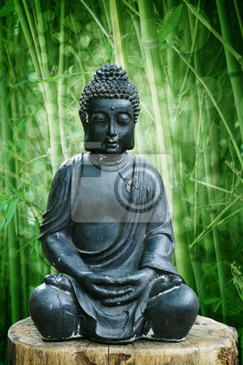 Buddha Im Garten Leinwandbilder Bilder Hof Gebet Buddha