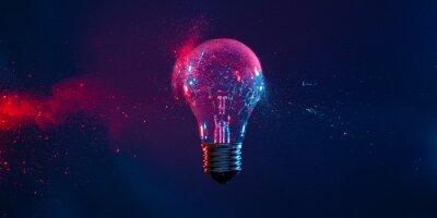 Bild bulb explosion background