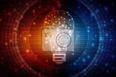 Bild bulb future technology, innovation background, creative idea concept