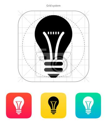 Bulb-Symbol. Vektor-Illustration.