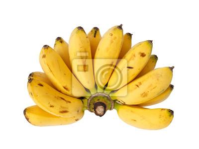 Bunch of Baby Banane isoliert auf weißem Hintergrund