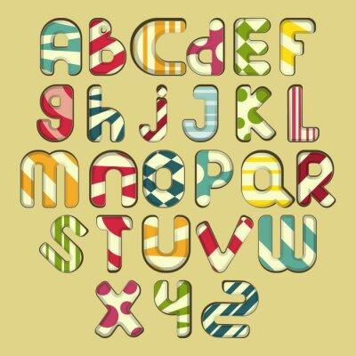 Bild bunt gestreiften Alphabet