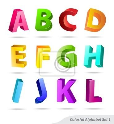 Bild Bunte abc letter set 1