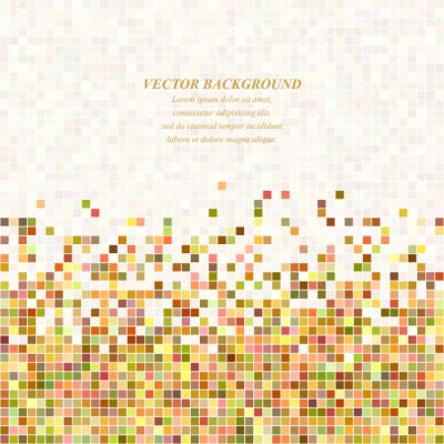 Bunte abstrakte Pixel quadratischen Mosaik Hintergrund