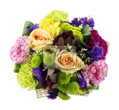Bild Bunte frische Blumen Strauß