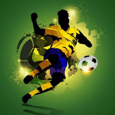 Bild Bunte Fußball-Spieler schießen