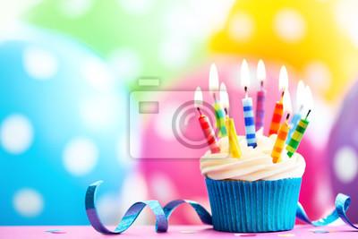 Bunte Geburtstag Cupcake Leinwandbilder Bilder Geburtstagsparty