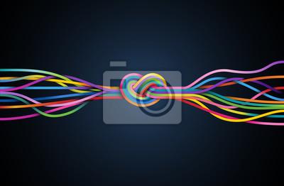 Bild Bunte Linien mit Knoten, eps10 Vektor