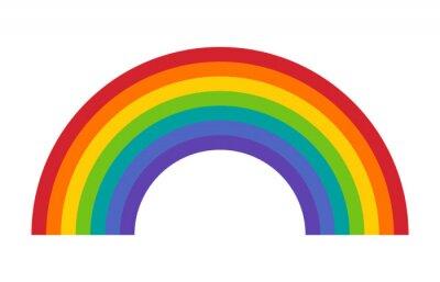 Bild Bunte Regenbogen oder Farbspektrum flachen Symbol für Apps und Websites