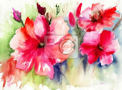 Bunte Rote Blumen
