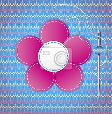 Bunte Sammelalbum mit Blume. Abbildung 10 Version