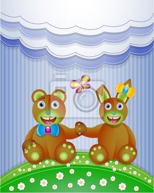Bunte Sammelalbum mit Hase und Bär. Abbildung 10 Version