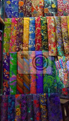 Bunte Stoffe Und Textilien Zum Verkauf Leinwandbilder Bilder